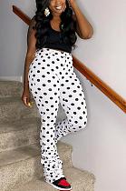 Casual Simplee Polka Dot Ruffle Long Pants HM5391