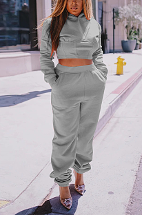 Casual Sporty Long Sleeve Hoodie Pants Sets QQM4141