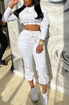 Casual Sporty Simplee Long Sleeve Hoodie Long Pants Sets HM5390