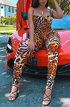 Sexy Fashion Leopard Mid Waist Jumpsuits XMY003
