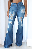 Casual Basics Distressed Flare Leg Pants Jeans SMR2336