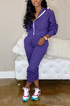 Casual Long Sleeve Hoodie Long Pants Sets YFS3597
