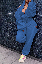 Блейзер Спортивный длинный рукав Halterneck Spliced Hoodie Long Pants Sets LY5893