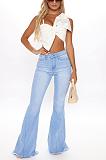 Casual Simplee High Waist Flare Leg Jeans SMR2350