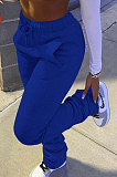 Thickening Casual Sporty Drawline Stacked pants Pockets HR8139