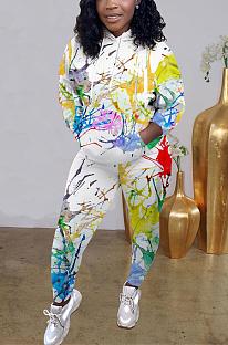 Lässige sportliche Simplee Langarm Hoodie Long Pants Sets MTY6351