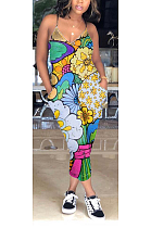 Casual Sexy Floral Cartoon Graphic Cami Jumpsuit LIN5212