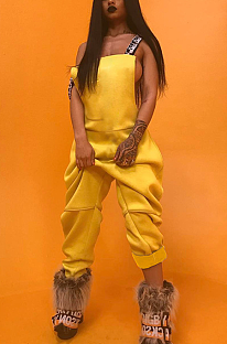 Blazer Boho Sexy mouwloze gesplitste cami-jumpsuit LIN8826