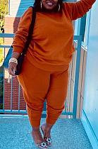 Casual Long Sleeve Tee Top Long Pants Looser Sets BDF8031