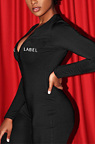 Sexy Simplee Long Sleeve Deep V Neck Bodycon Jumpsuits AYS0018
