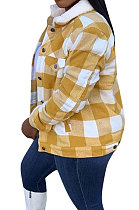 Fashion Casual Sexy Plaid Cotton-Padded Jacket Cotton Coat YMT6188