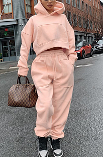 Casual Sporty Polyester Long Sleeve Hoodie Long Pants Sets BLE2178