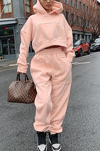 Lässige sportliche Polyester Langarm Hoodie lange Hosen Sets BLE2178
