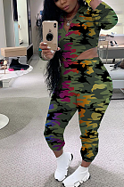 Casual Sporty Camo Long Sleeve Long Pants Sets MOM5057