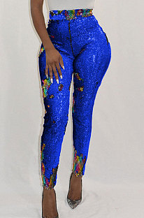 Club Sexy Discoloration Sequins Long Pants CCY8029