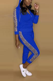 Street Style Langarm gespleißt Hoodie T-Shirt lange Hosen Sets A8583