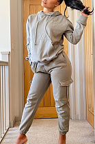 Casual Long Sleeve Flat Pocket Hoodie Cargo Pants Sets NYY6046