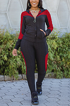 Casual Sporty Long Sleeve Hoodie Tailored Pants Sets LYY9278