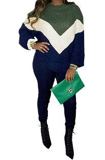 Suéter estilo médio virado camisa base solta tricô fino tricô mangas nove pontos suéteres QY5026