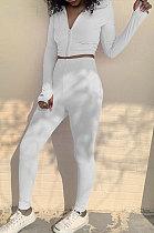 Autumn Winter Long Sleeve Zipper Stand Collar Embroidered Fitness Long Sport Sets SX1738567