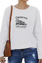 Blusa casual simplee manga longa decote redondo WT20197