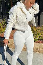 Piush Womenswear Pure Color Automne Hiver Manteau AA5204