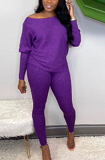 Casual Simplee Long Sleeve Notched Neck Long Pants Sets ED8323