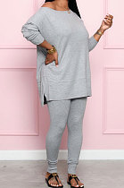 Simplee Fashion Casual Pure Color Bat Sleeve Two-Piece SQ6238