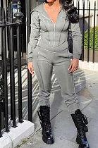 Womenswear Air Layer Cortical Line Spliced Fashion Casual Two-Piece YR8061
