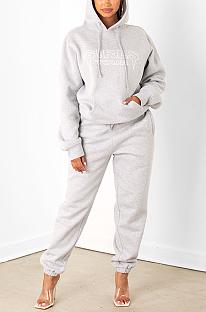 Conjuntos de calças compridas casuais com capuz e manga comprida casual sexy MY9769