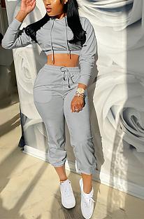 Conjuntos de calças compridas casuais esportivos de manga comprida com capuz XZ3729