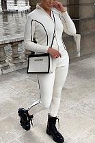 Casual Sporty Long Sleeve Spliced Long Pants Sets GLS1063