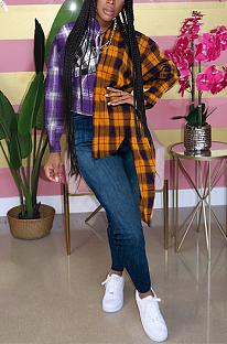 قمصان قطنية بوليستر كاجوال بأكمام طويلة وياقة طية صدر السترة GL6313