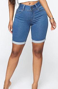 Slim Casual Denim Shorts Comfortable Women Bottom WE3088