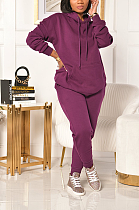 Casual Sporty Long Sleeve Hoodie Thickened Sweater Undercoat Long Pants Sets CCY8814