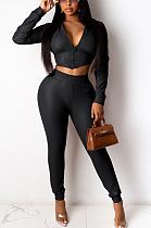 Modest Simplee Long Sleeve Deep V Neck Long Pants Sets YYZ852