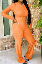 Pure Color Womenswear Colpus Ruffle Casual Jumpsuit YSS8041