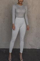Sexy Polyester Mid Waist Slim Ribbed Leggings Long Pants LS6401