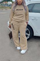 T-shirt décontracté à col rond avec poche oblique, ensemble de pantalons longs T3574