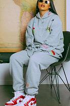 Casual Simplee Cartoon Graphic Long Sleeve Hoodie Long Pants Sets ALS224