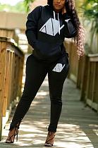 Casual Pop Art Print Long Sleeve Hoodie Long Pants Sets ARM8242
