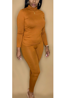 Casual Simplee Long Sleeve High Neck Capris Pants Sets CL6089