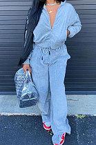 Autumn Winter Loose Street Sport Long Sleeve Zipper Sets NYF8029