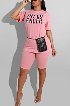 Casual Simplee Short Sleeve Round Neck Shorts Sets CL6044