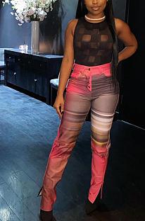 Casual Modest Ruffle Mid Waist Long Pants HYY8046