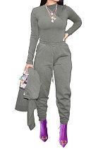 Moda feminina Moda Esporte Calça Casual Jog Pure Color W8349