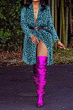 Fashion Sexy Leopard Printing Long Sleeve Coat MF5175