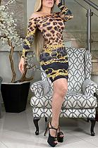 فستان قصير مثير متواضع بأكمام طويلة وكتف واحد YZ2322