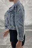 Cowboy Womenswear Long Sleeve Pure Color Coat MF5178