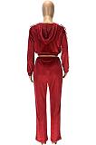 Conjuntos de casacos básicos esportivos de poliéster de manga comprida com emenda para calças compridas SM9131